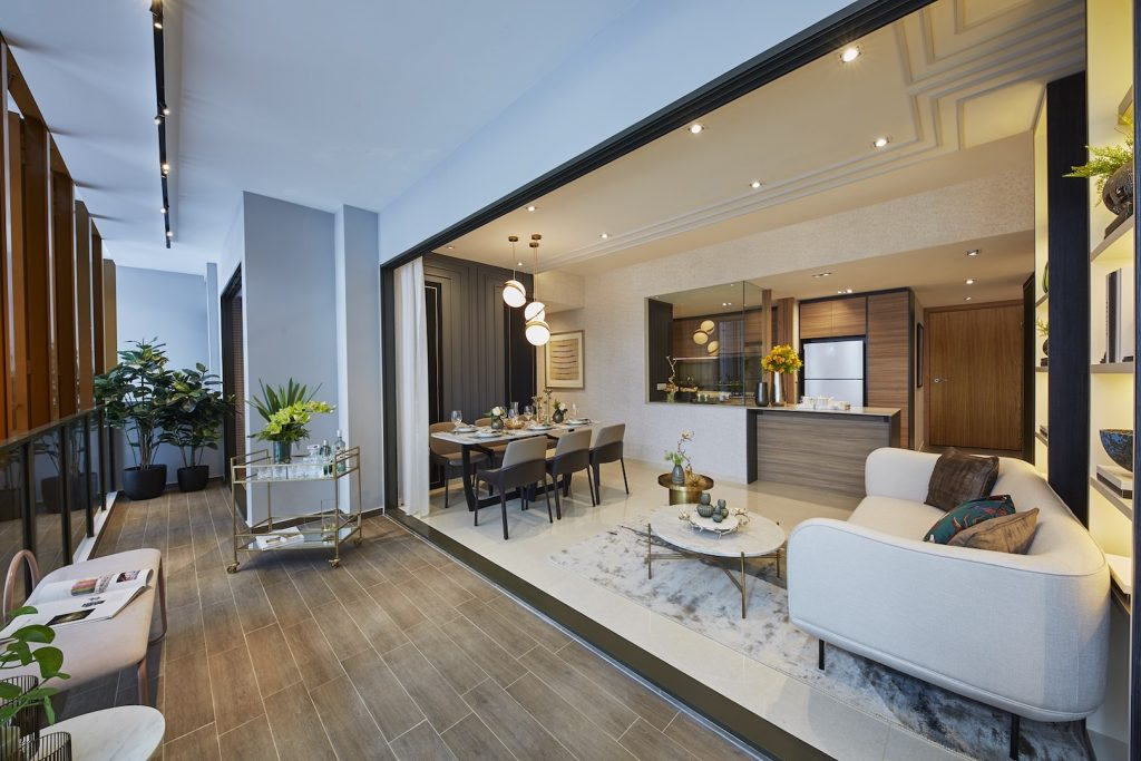 Midwood Hillview Showflat 4 Bedroom Layout