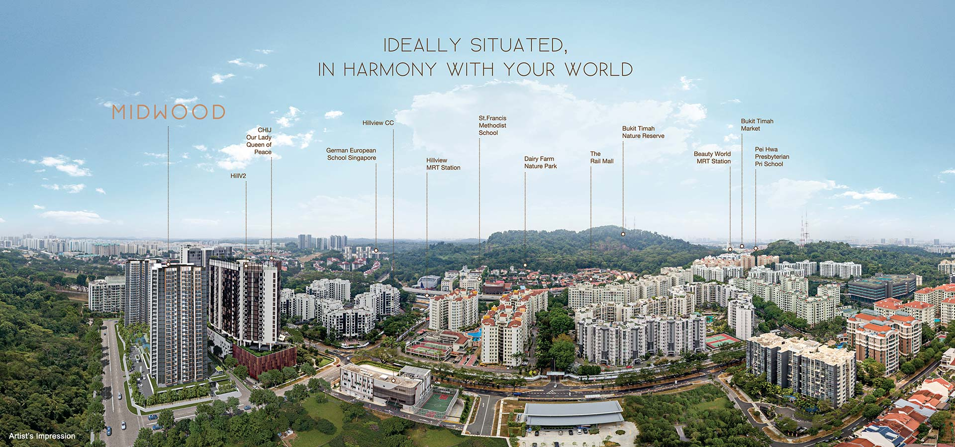 Midwood Location 5 Mins Walk to Hillview MRT Station, Next to HillV2 Mall
